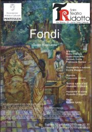 """Fondi"", brillante commedia al Teatro Ridotto"